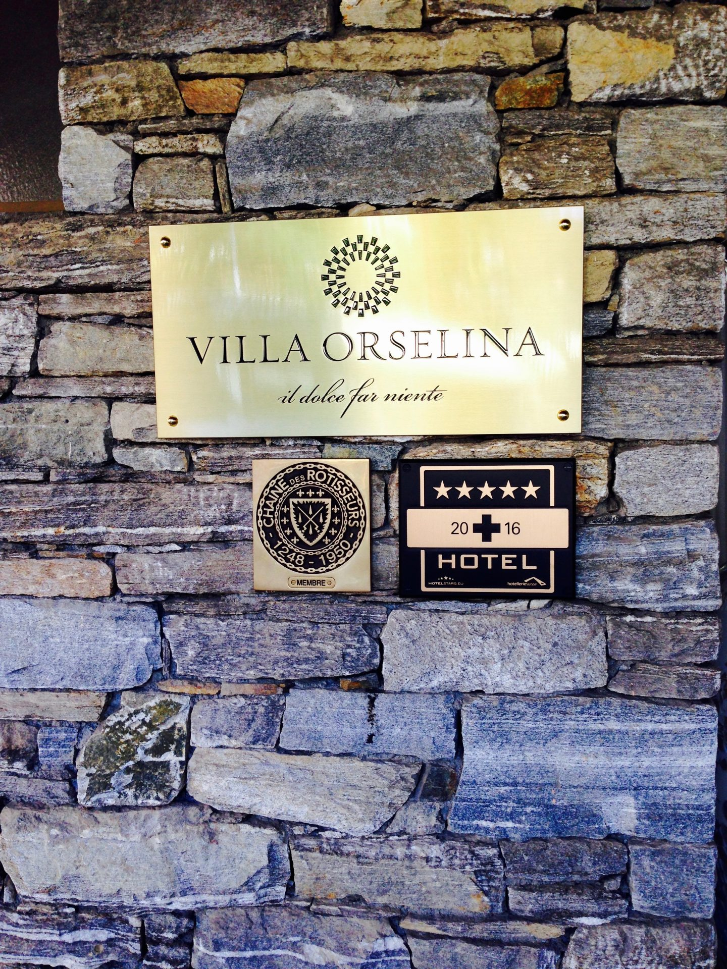 A small luxury hotel in Orselina