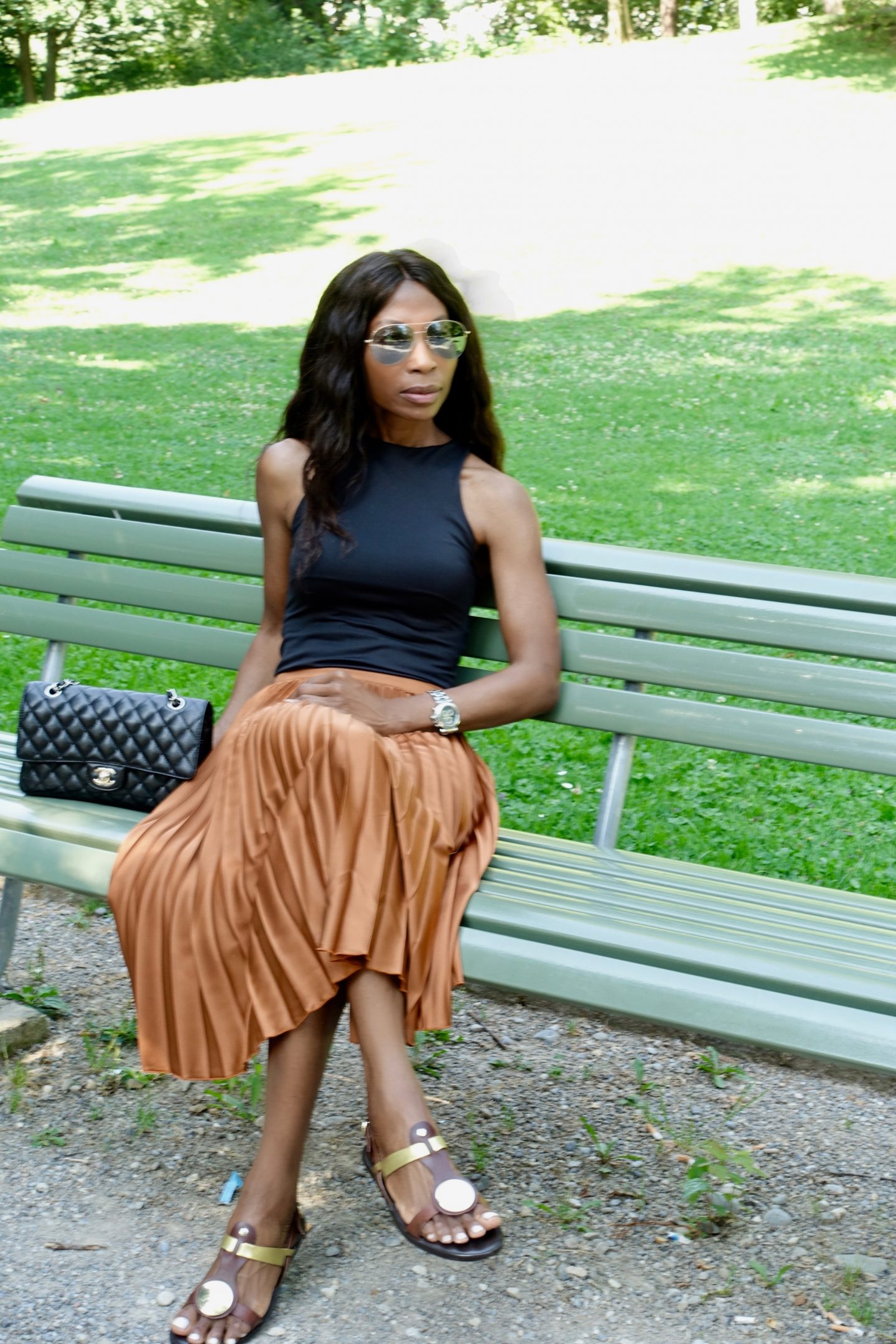Pleated Skirt Styled Three Different Ways Aproposh