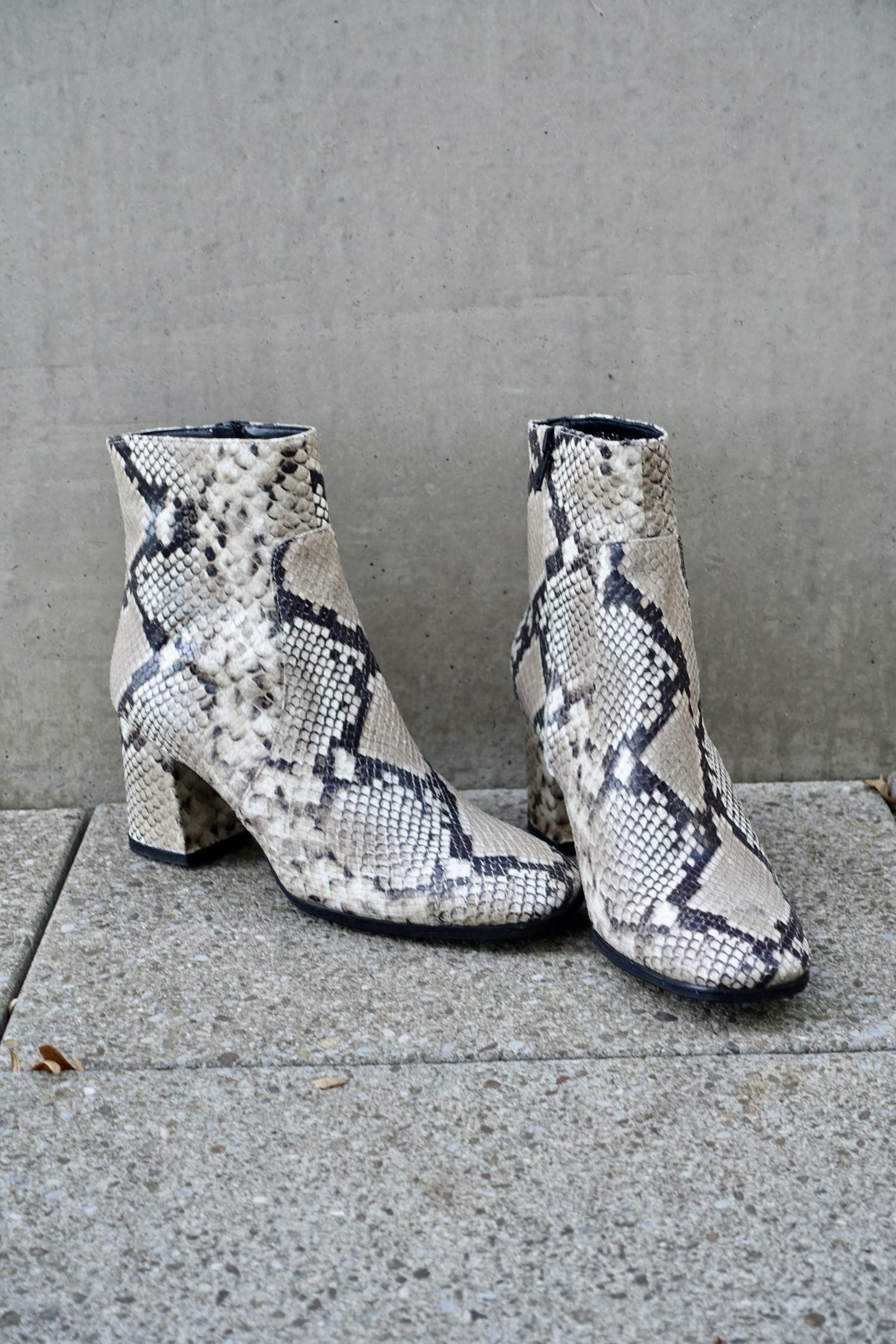 Snakeskin Print Boots Trend 2019